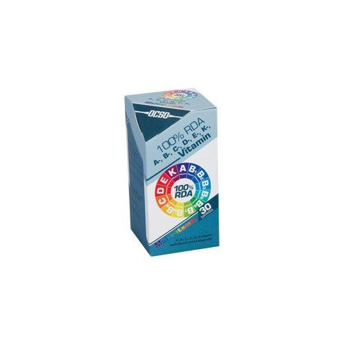 OCSO 100% RDA A-, B-, C-, D-, E-, K-vitamin Multivitamin - 30 db